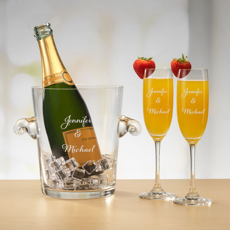 The Personalized Couples Champagne Set 10036 0023 d mimosa