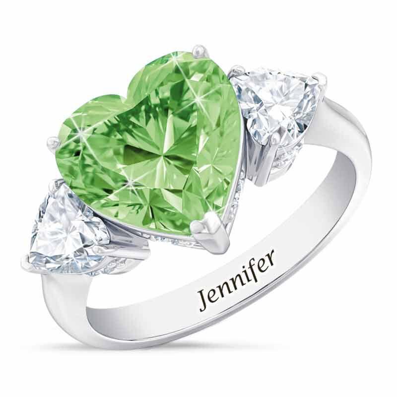 Birthstone Triple Heart Ring 1516 001 3 8