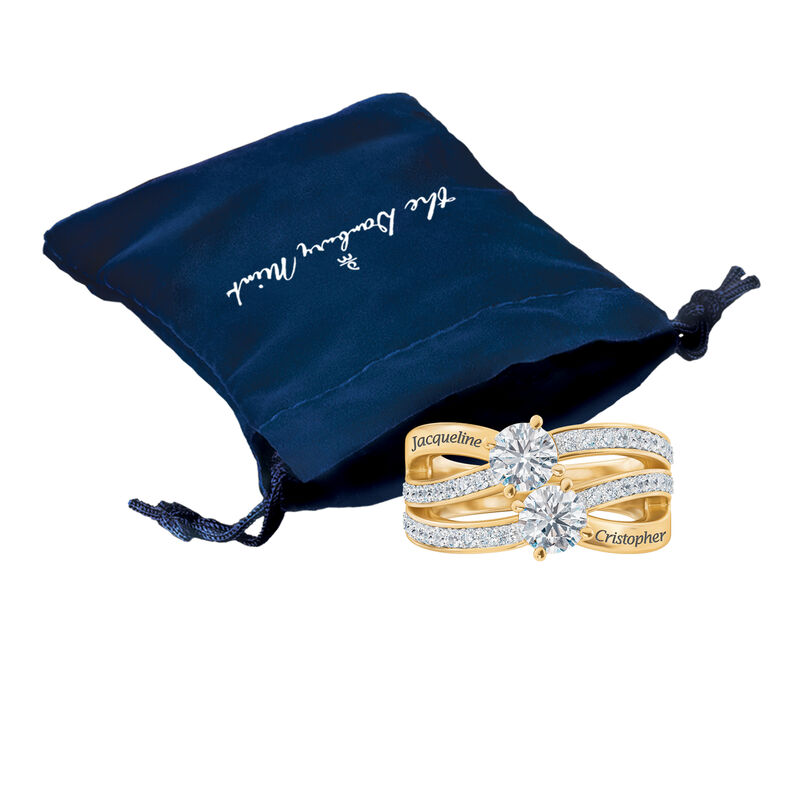 Our Lives are blessed our Faith is strong our Love is forever Blessed Secret Message Ring 6984 0015 g gift pouch