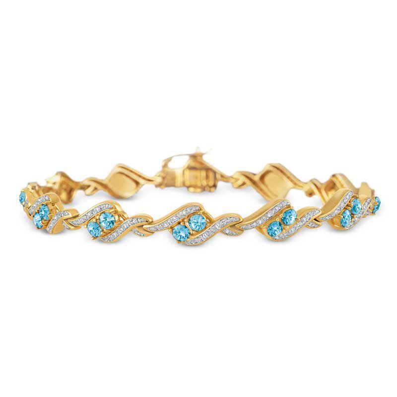 Birthstone  Diamond Bracelet 6321 001 7 3