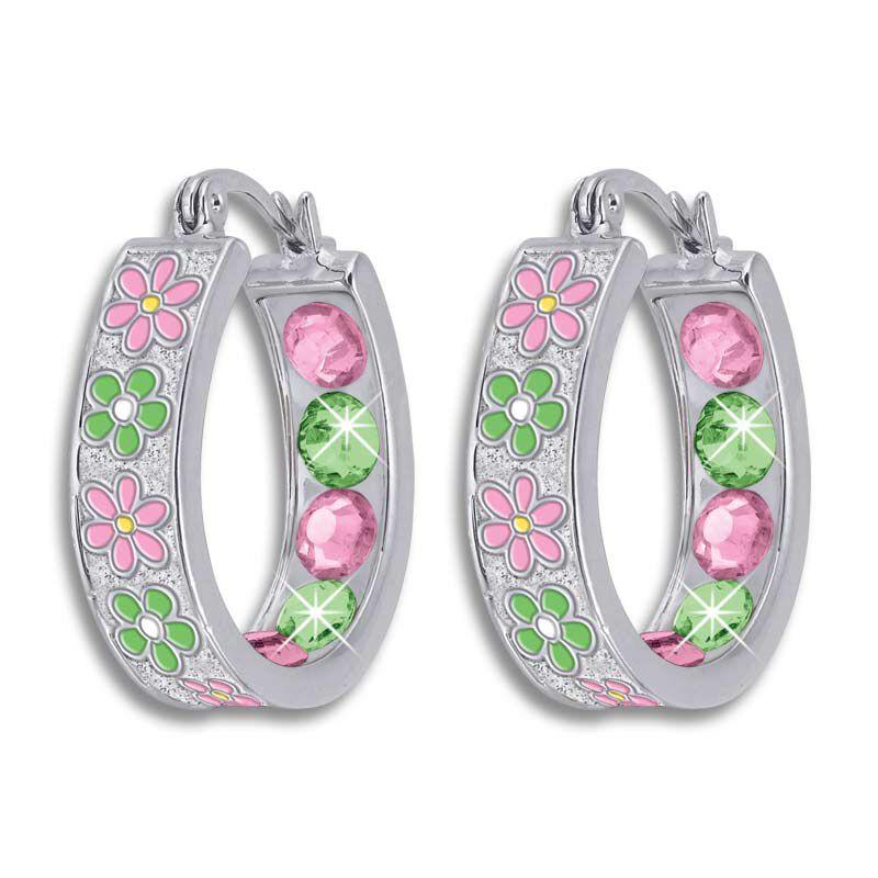Crystal Celebrations Hoop Earrings 4608 002 4 10