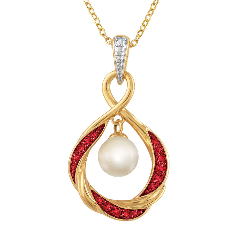 The Pearl Birthstone Pendant 6901 0015 b front