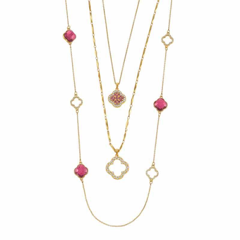 Birthstone Beauty Layered Necklace Set 6594 001 7 10
