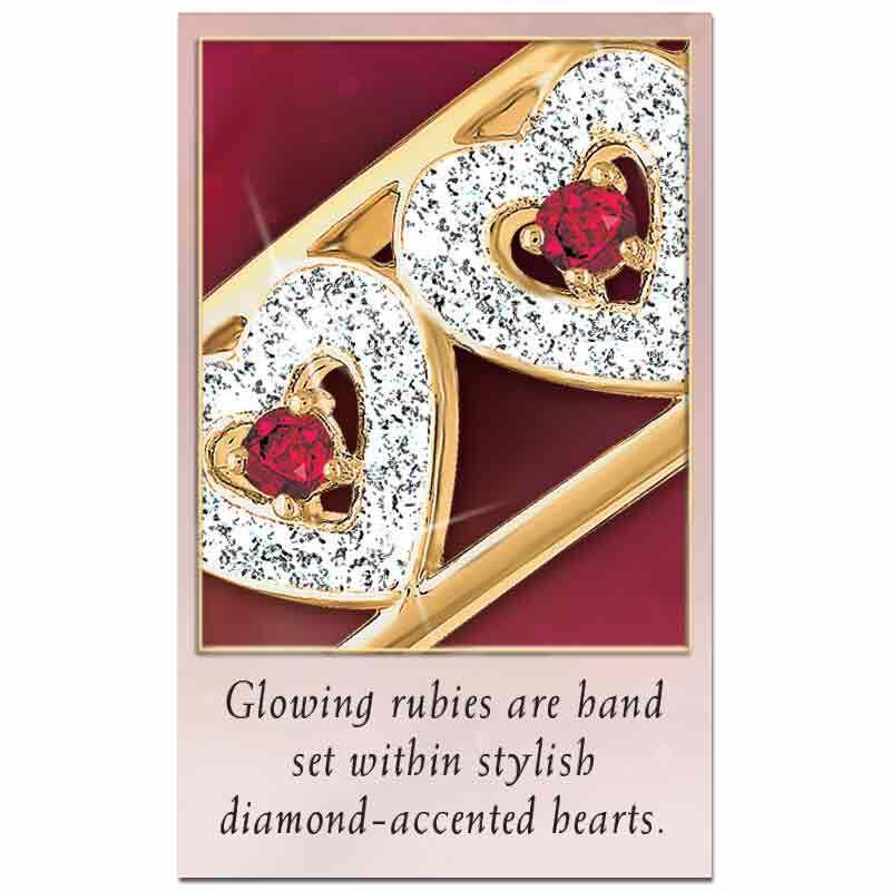I Love You Ruby  Diamond Bangle 5291 001 5 3