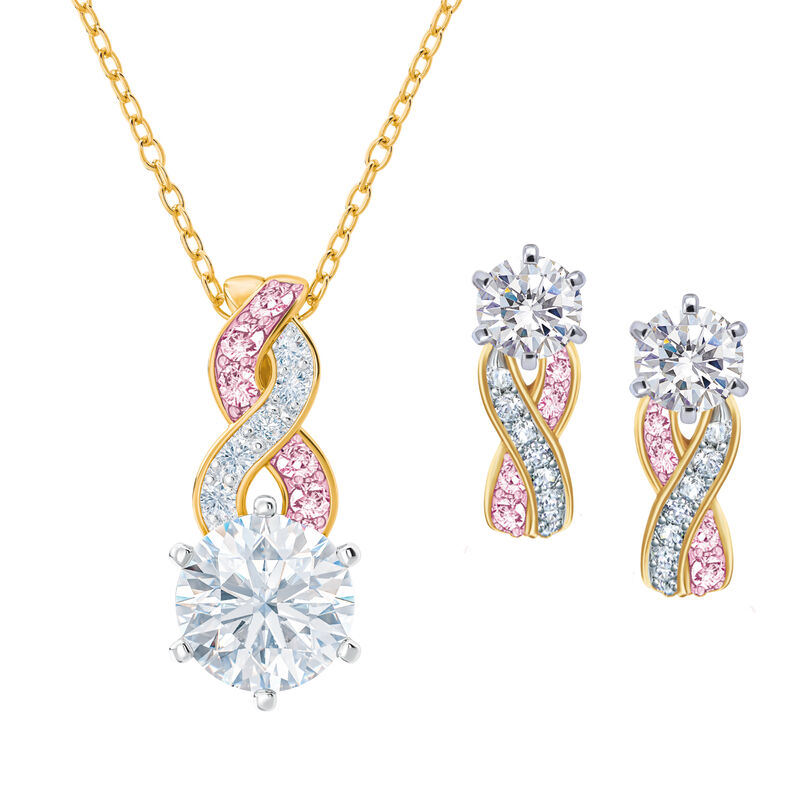 I Will Always Love You Daughter Journey Necklace with Matching Earrings 10496 0018 a main