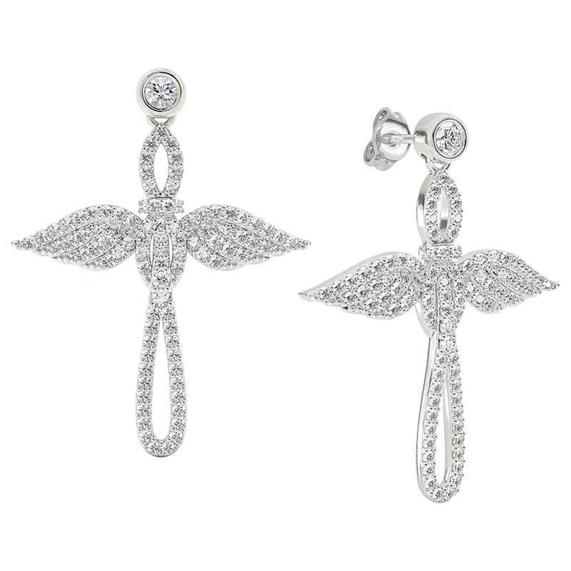 Touched by an Angel Cross Earrings 2673 005 1 1