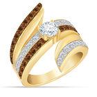 Mocha Swirl Diamonisse Statement Ring 10188 0011 a main
