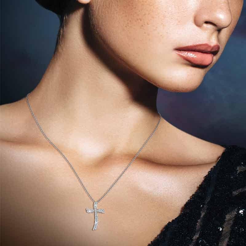 Diamond Divinity 14kt Gold Cross Pendant 6146 001 0 4