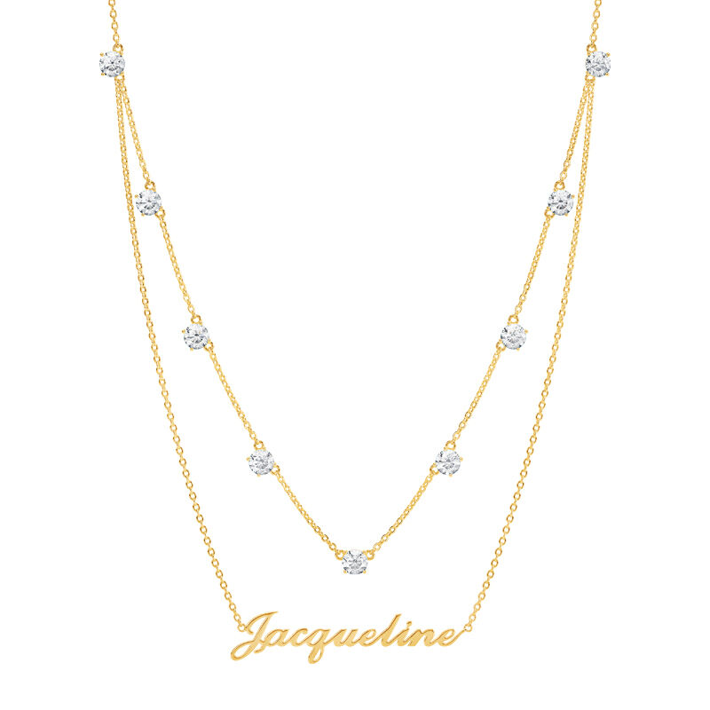 The Birthstone Layered Necklace 6788 001 3 4