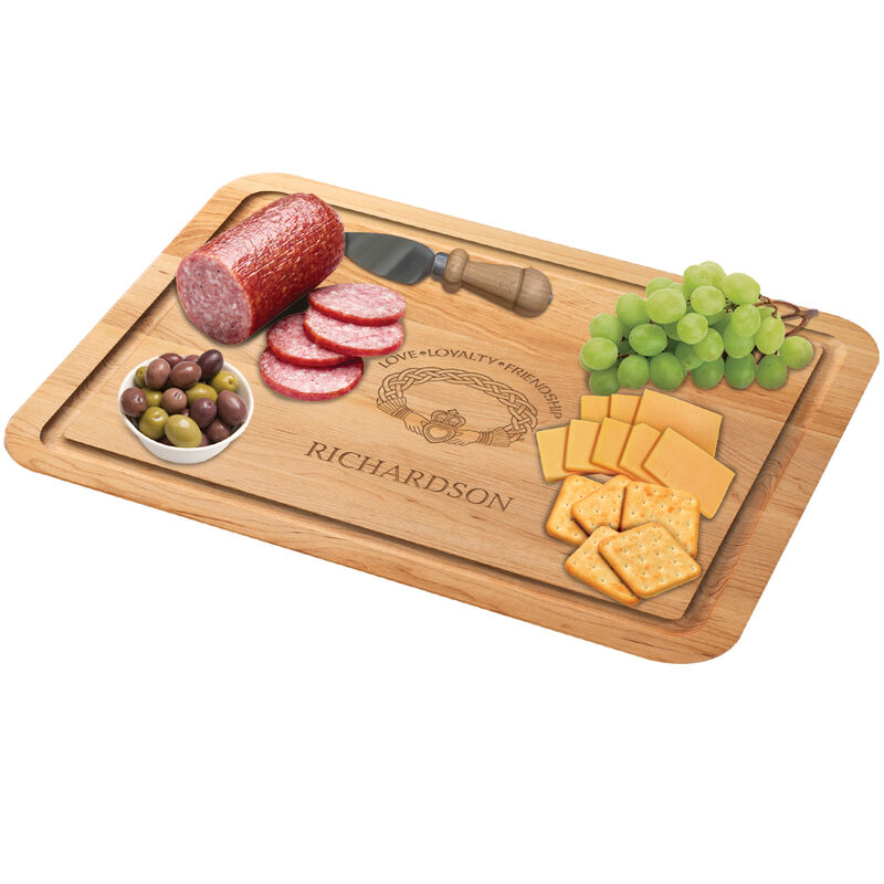 The Personalized Irish Blessing Cutting Board Free Knife 5108 0026 c meat with cheese