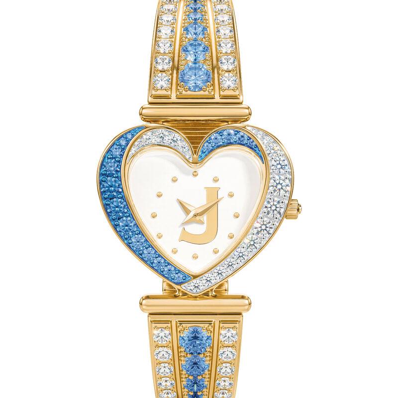 Womens Birthstone Initial Heart Watch 10332 0016 l december