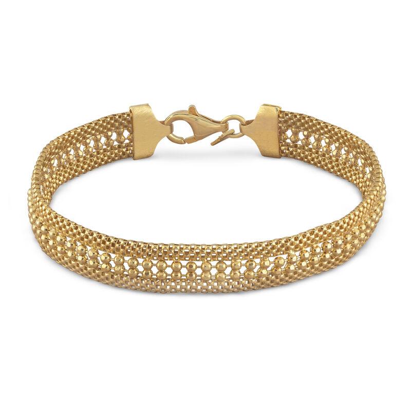 Golden Glamour Italian Weave Bracelet 6416 0013 a main