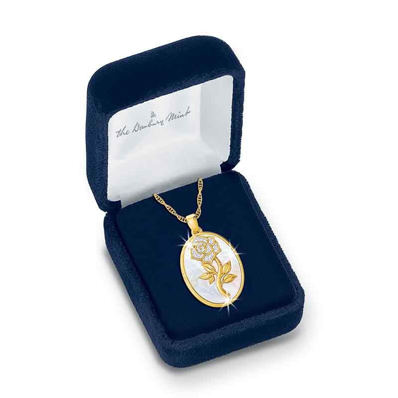 My One  Only Diamond Rose Pendant 1094 001 3 3