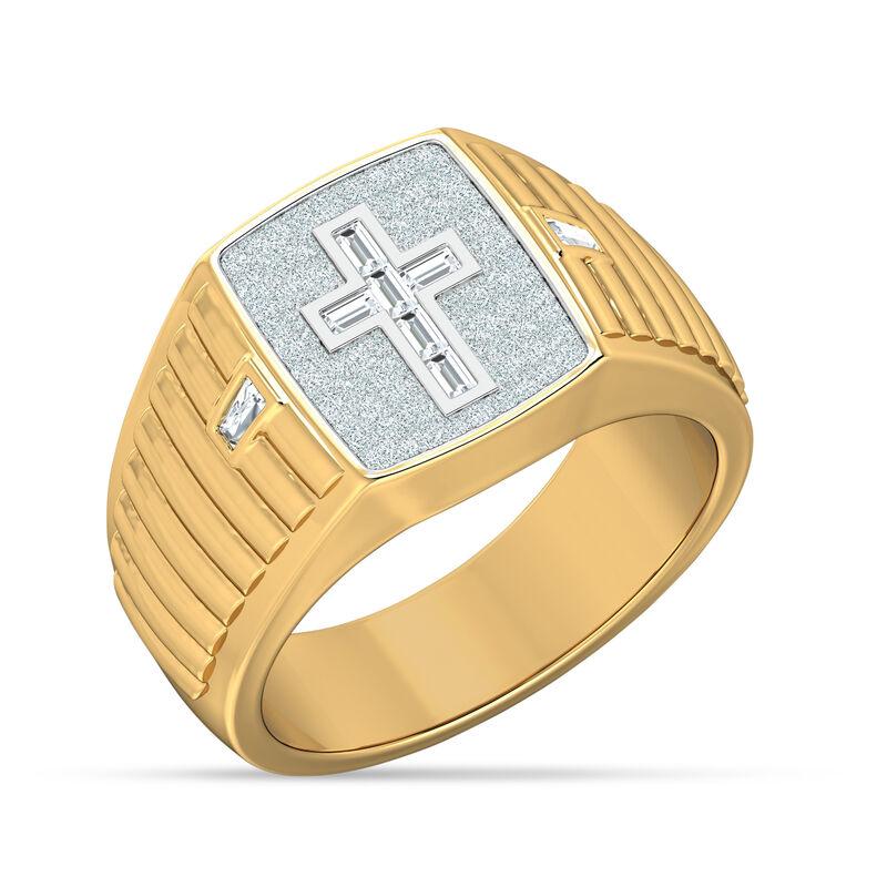 Believe Baguette Diamond Mens Ring 10456 0016 a main