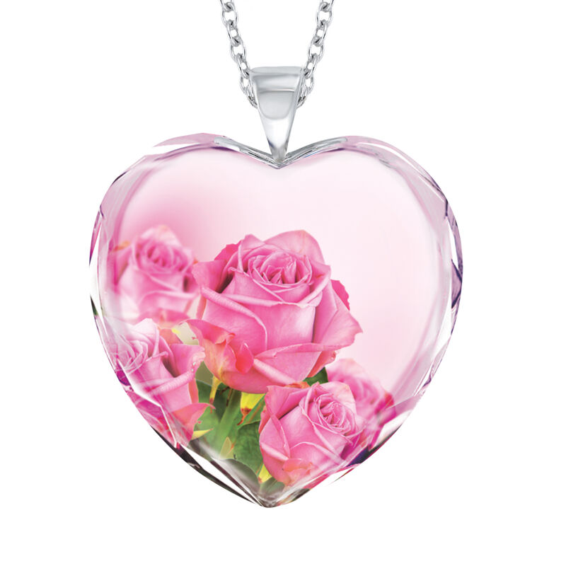 Brave Strong and Forever Loved Granddaughter Crystal Pendant 6964 0019 b front