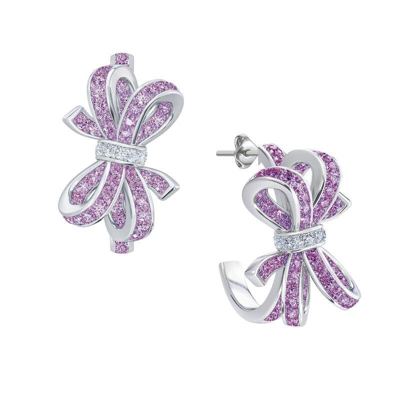 Birthstone Diamond Bow Earrings 1876 0066 f june
