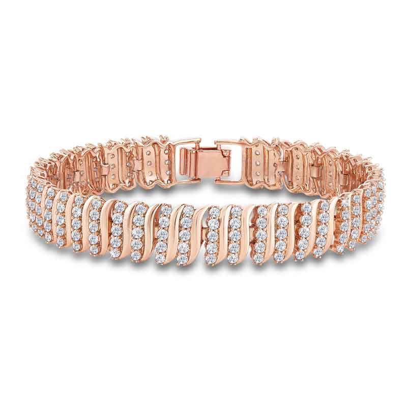 Captivating in Copper Simulated Diamond Bracelet 6576 001 9 1