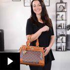 Personalized Initial Brown Handbag, , video-thumb