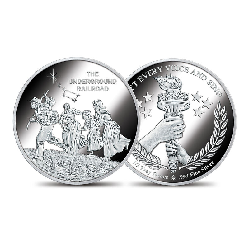 The American Civil Rights Silver Bullion Commemoratives 10123 0019 a UndergroundRailroadcommemorative