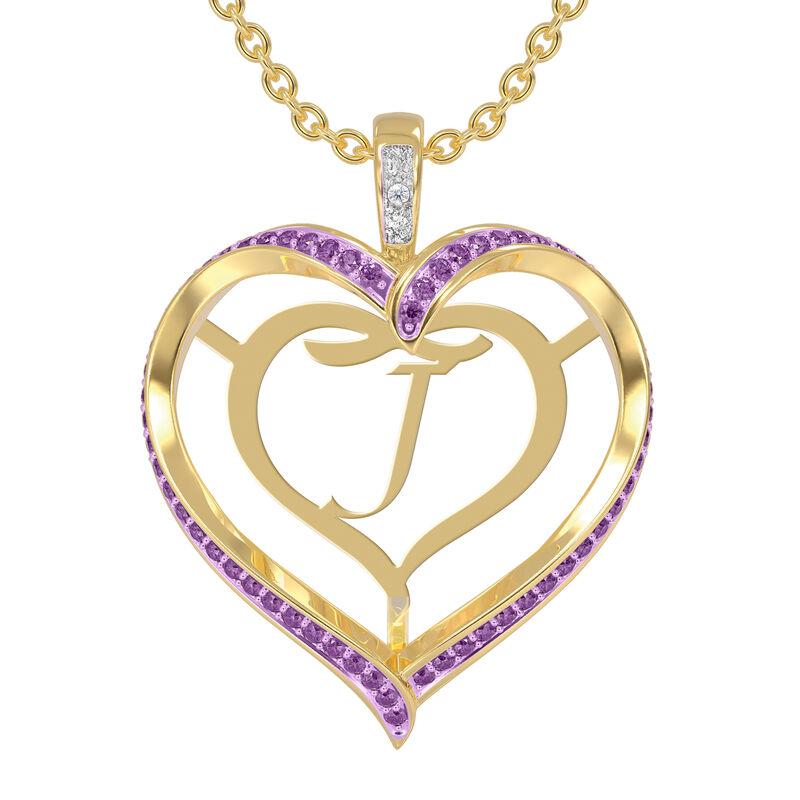 Personalized Birthstone Diamond Pendant 10138 0012 b february