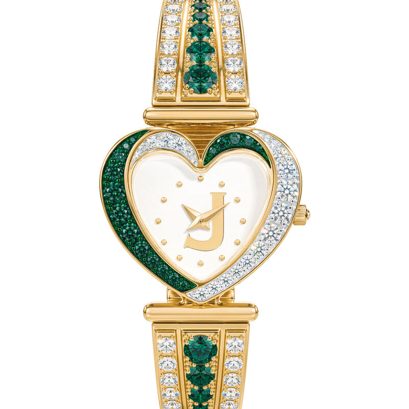 Womens Birthstone Initial Heart Watch 10332 0016 e may