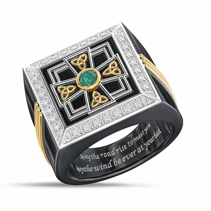 Celtic Blessing Mens Ring 6645 001 6 1