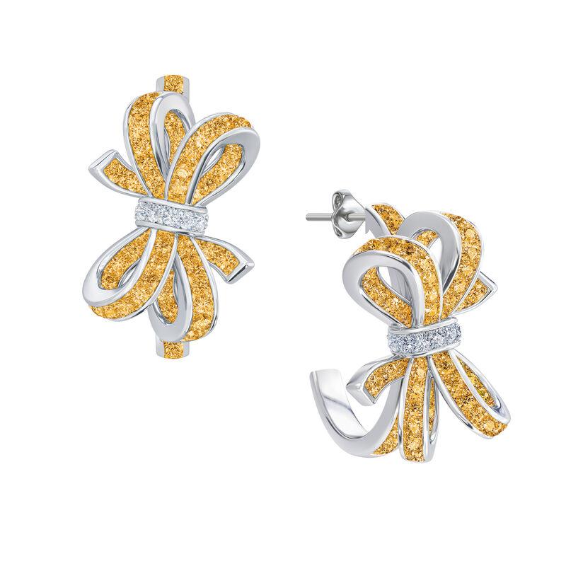 Birthstone Diamond Bow Earrings 1876 0066 k november