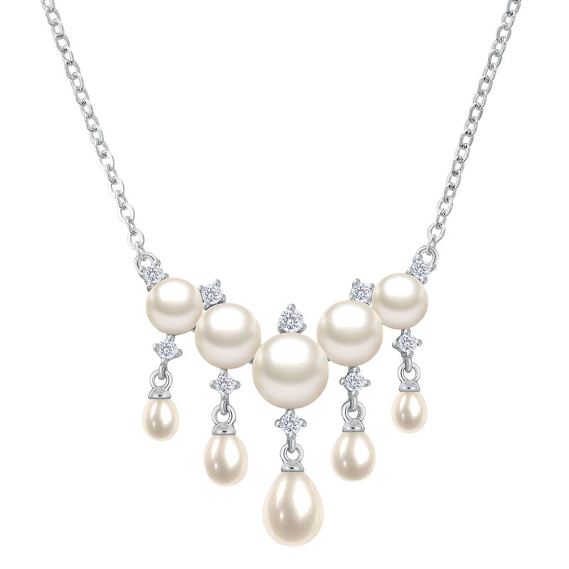 Cascading Pearls Necklace and Earring Set 6741 0019 b necklace