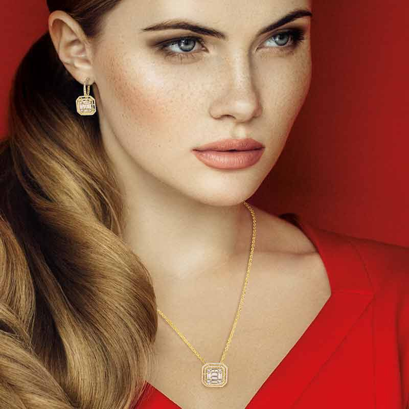 Refined  Radiant Necklace and Earring Set 6358 001 3 6