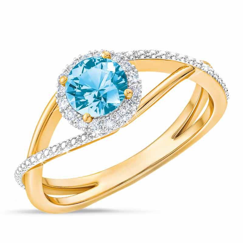 Birthstone  Diamond Ring 1099 001 8 12