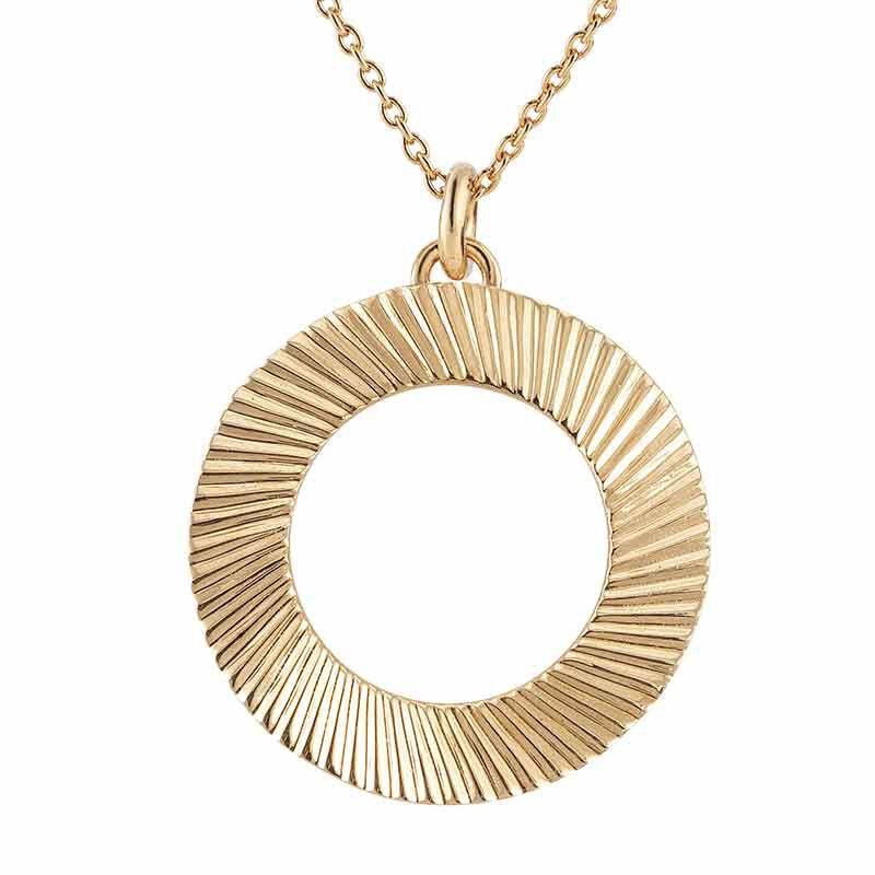 Golden Waves Pendant  Earring Set 6421 001 6 2