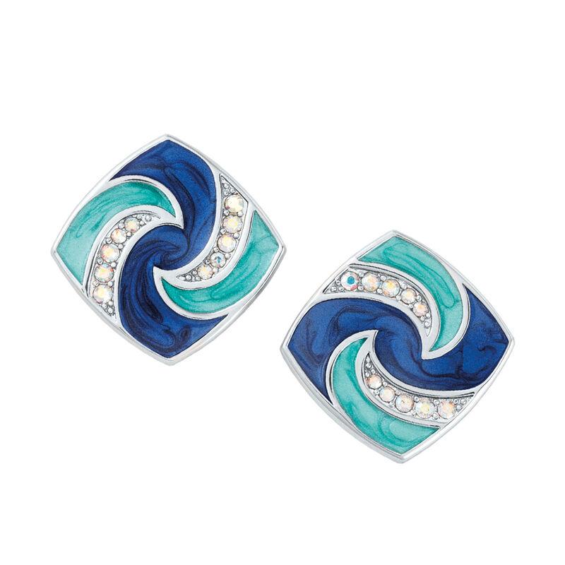 Blue Wave Earring Set 6723 0011 e earringset three