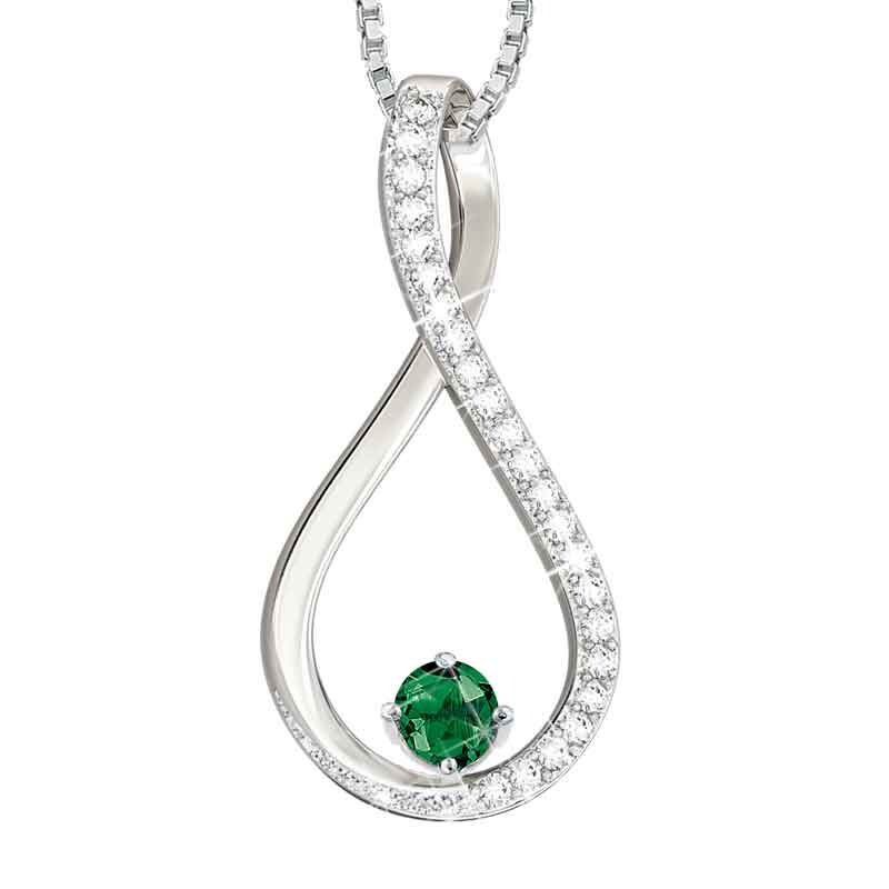 The Birthstone  Diamond Infinity Pendant 5200 001 5 5