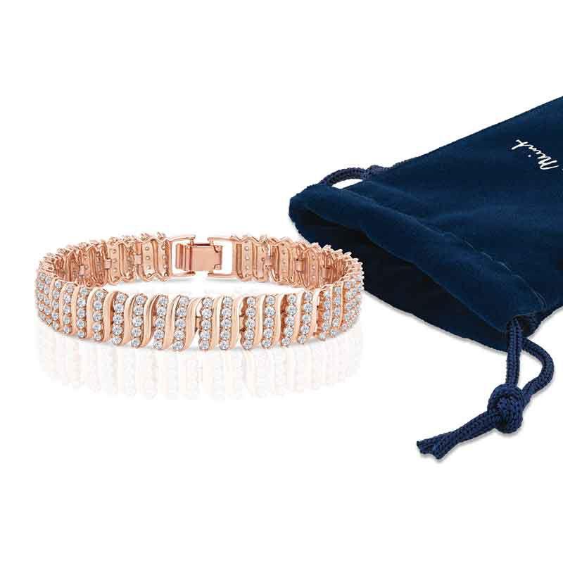 Captivating in Copper Simulated Diamond Bracelet 6576 001 9 4