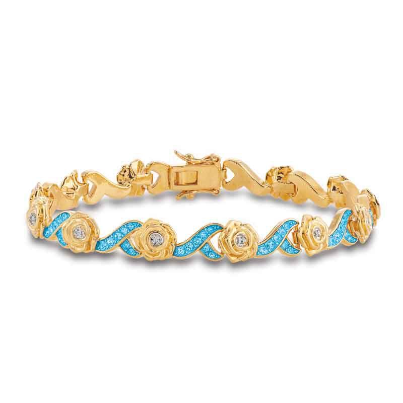 A Dozen Roses Birthstone  Diamond Bracelet 6684 001 8 7