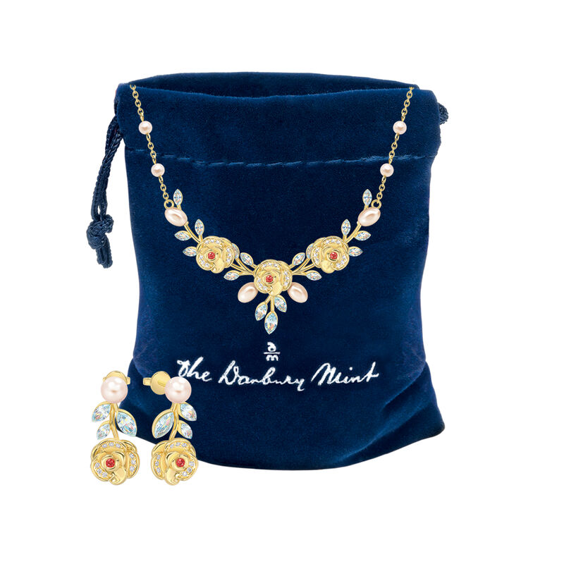 The Juliet Rose Necklace and Earring Set 10192 0015 g gift pouch