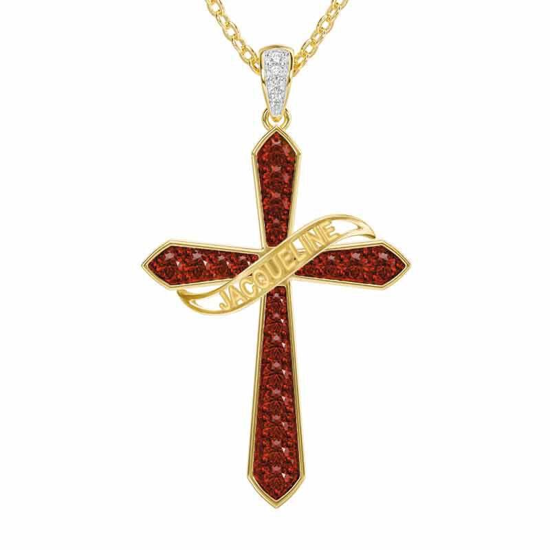 The Birthstone  Diamond Cross Necklace 6787 001 4 1
