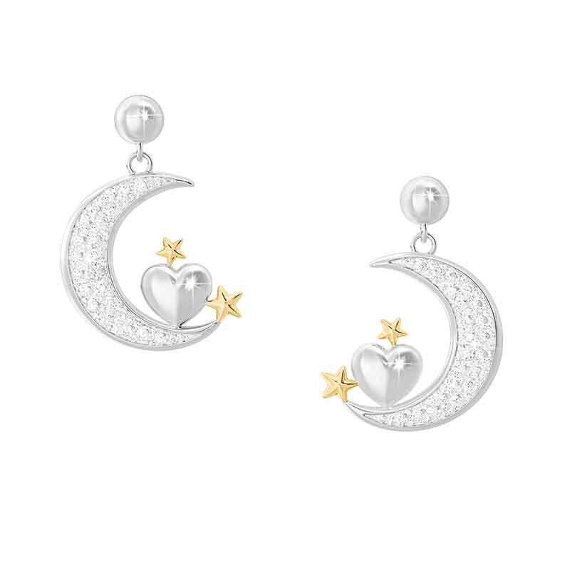 Granddaughter Diamond Moon Earrings 4507 003 4 1