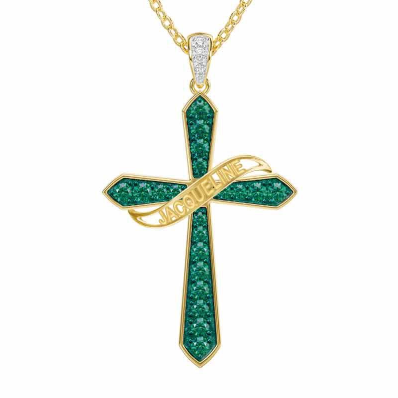 The Birthstone  Diamond Cross Necklace 6787 001 4 5