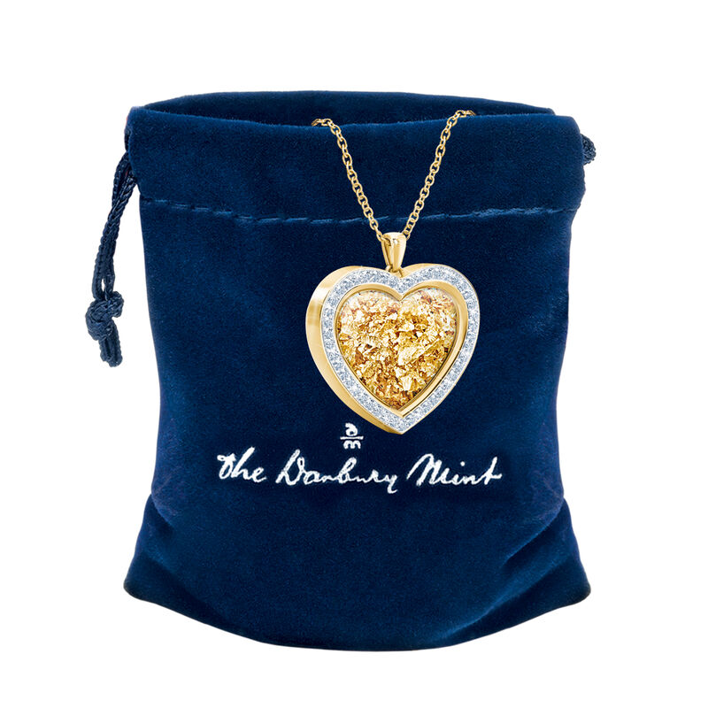 Heart of Gold Pendant 1816 0028 g gift pouch