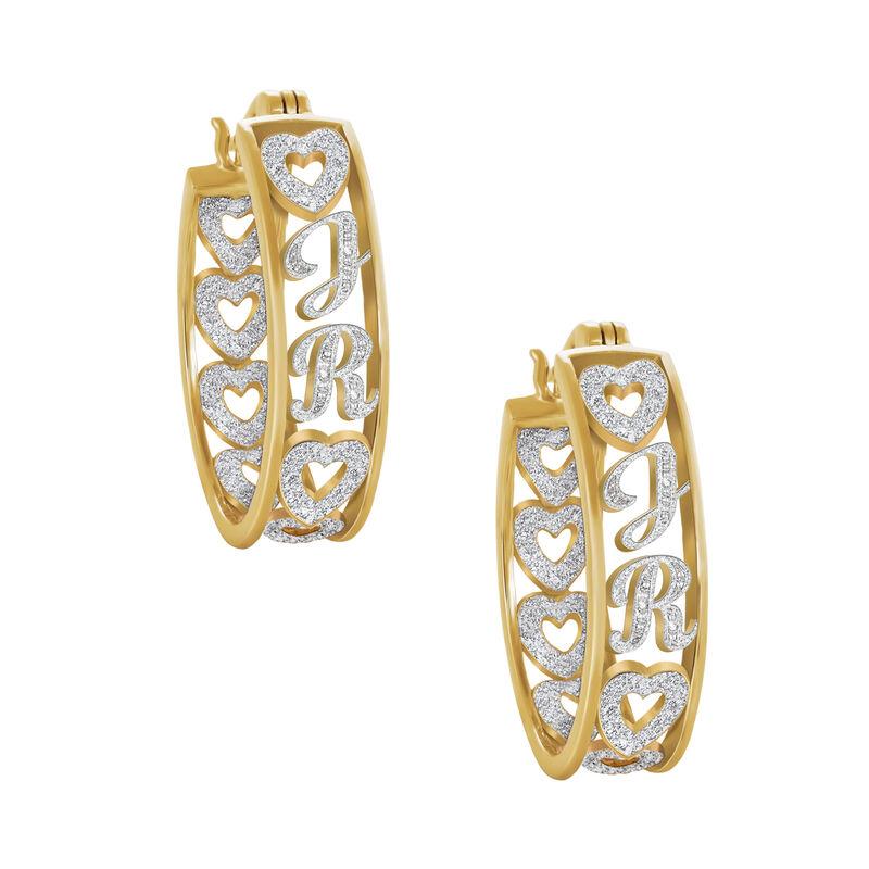Personalized Diamond Hoop Earrings 10059 0017 a main