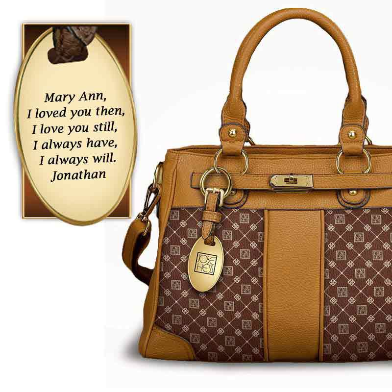 I Love You Personalized Handbag   Brown 5158 004 1 2