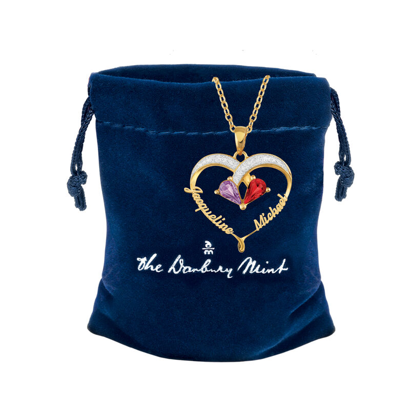 Joined in Love Birthstone Diamond Pendant 2917 0016 g gift pouch