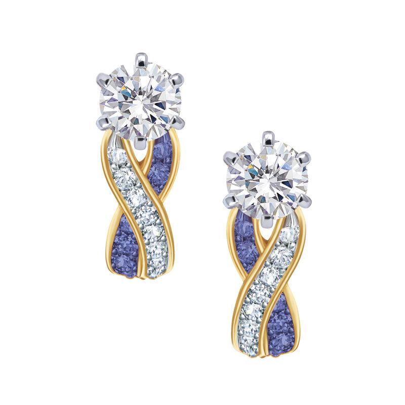 Birthstone Swirl Earrings 6243 0038 b february