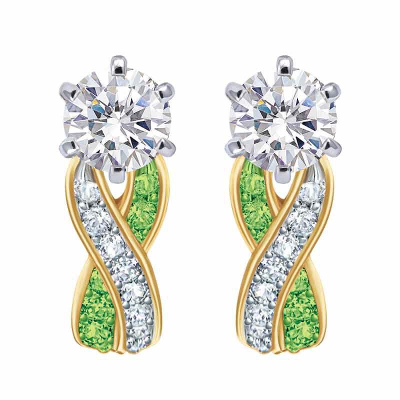 Birthstone Swirl Earrings 2647 001 3 8