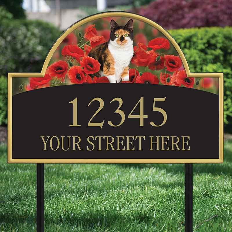 The Captivating Kitties Address Plaque by Simon Mendez 1088 004 5 2