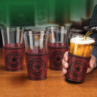 Cowboys Leather Wrapped Pint Glasses 6127 0013 c room
