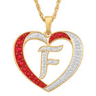 Personalized Diamond Initial Heart Pendant with FREE Poem Card 2300 0060 f initial