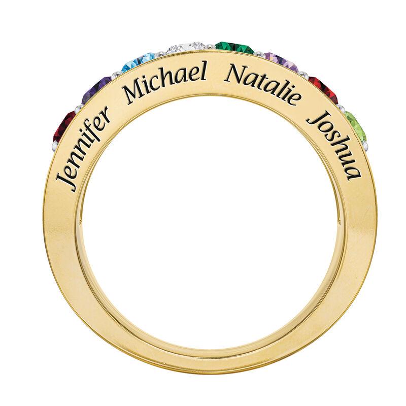 My Loved Ones Name Engraved Birthstone Diamond Ring 10460 0010 b side