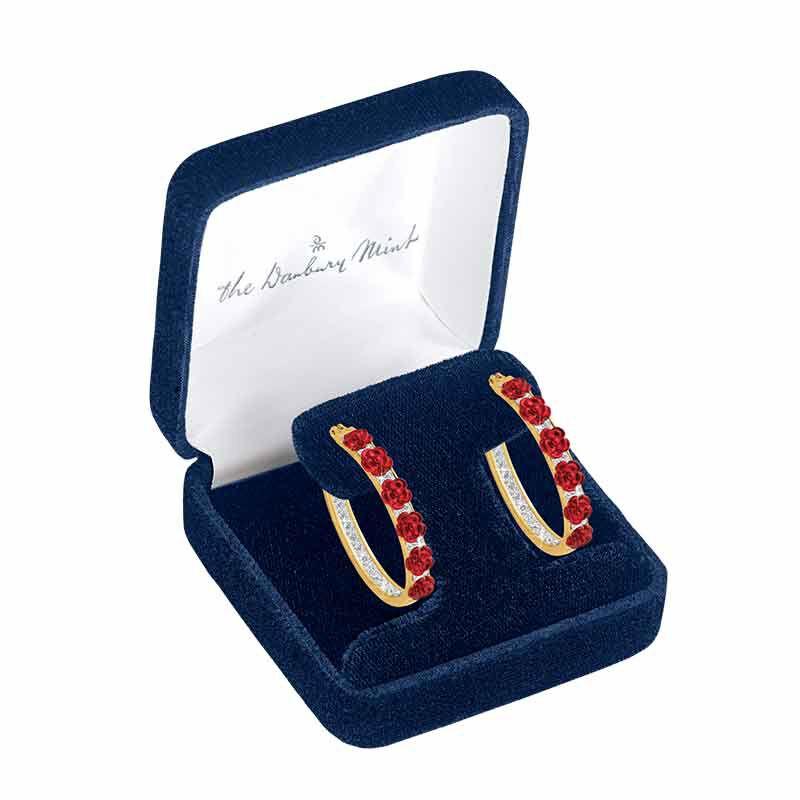 A Dozen Roses Diamond Hoop Earrings 1441 001 3 2